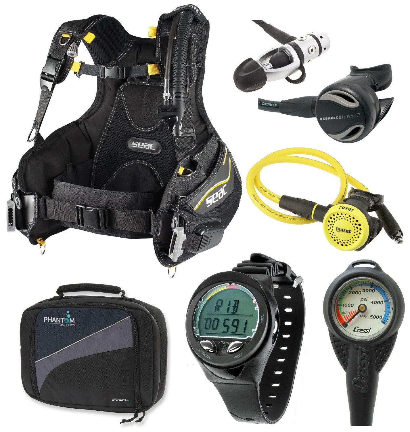 scuba diving gear and accessories