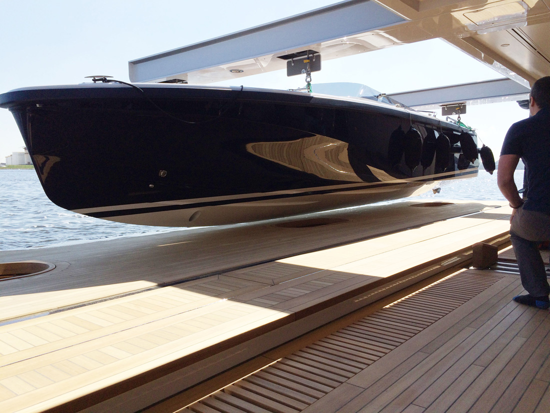 aquilia is an italian made tender perfect for megayachts with its sleek classic lines