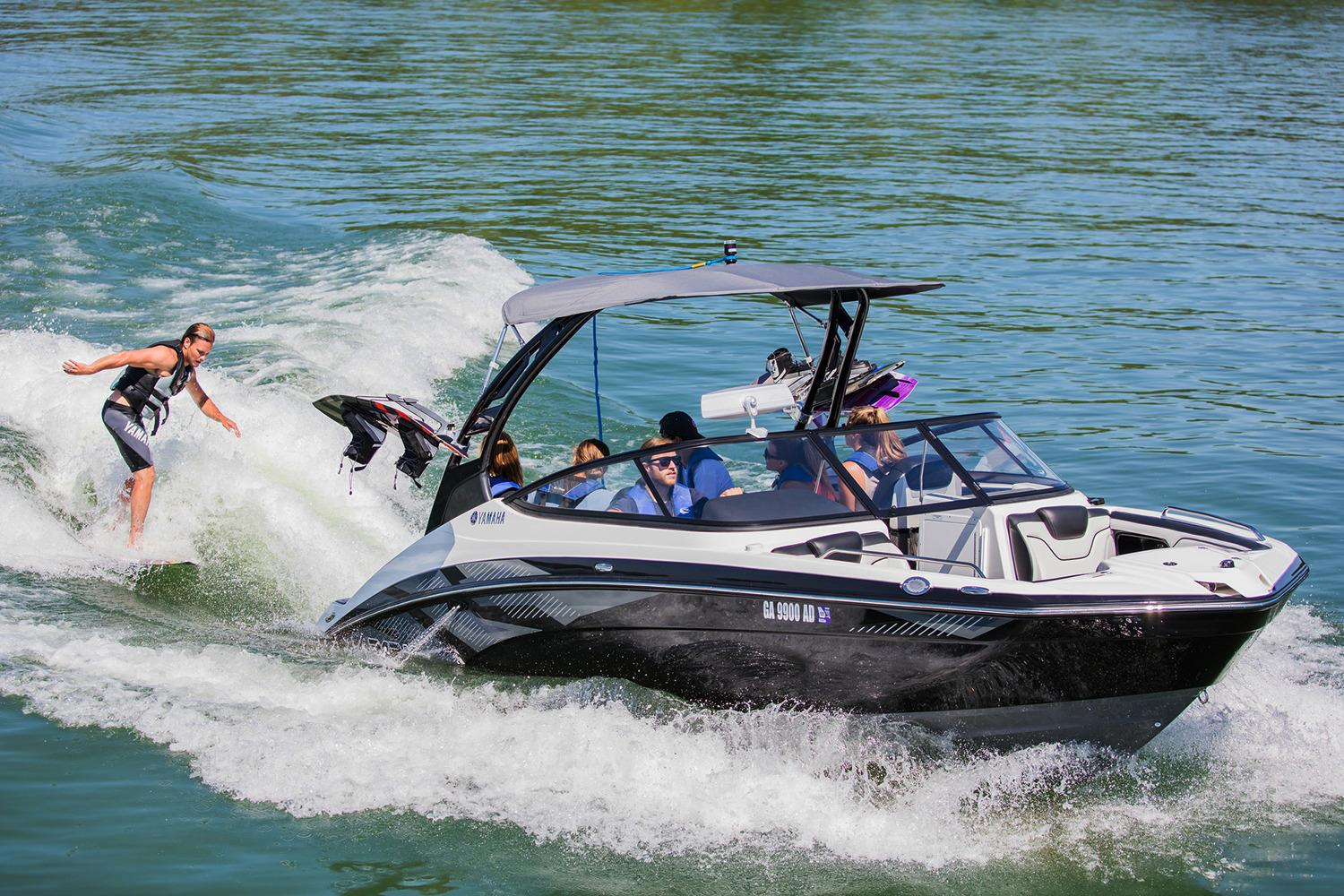 this option in superyacht tenders is a power boat that makes wakeboarding and other watersports possible